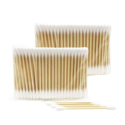 Organic Wooden Cotton Swabs/Biodegradable Bamboo Cotton Buds 12 Pack(2400)