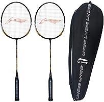 Li-Ning XP-70-IV Strung Badminton Racquet ( BLACK/GOLD , S2 , 90-95 grams , 18-20 lbs )