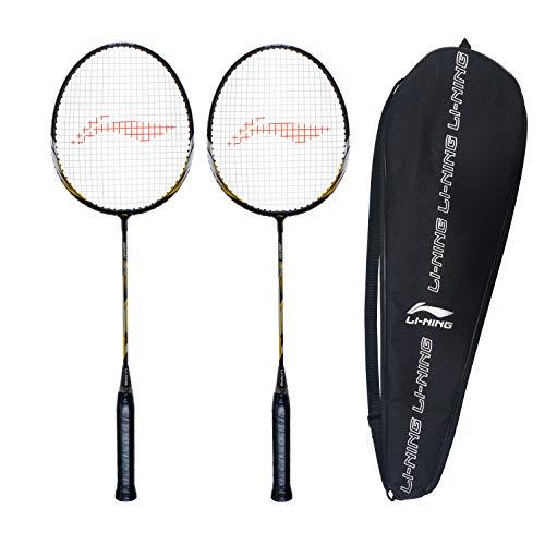 Li-Ning XP-70-IV Strung Badminton Racquet (Black/Gold , S2 , 90-95 grams , 18-20 lbs)