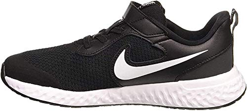 Nike Unisex-Child Revolution 5 (PSV) Running Shoe, Black/White-Anthracite, 34 EU