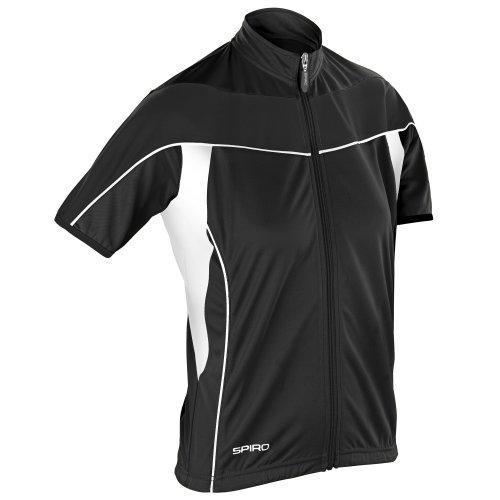 Spiro - Jersey ligero de polar para ciclismo con cremallera para mujer (XS/Blanco/Negro)