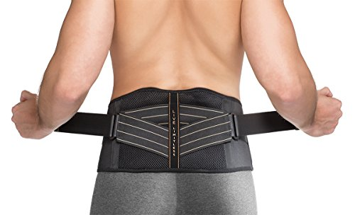 Copper Fit Rapid Relief Back Support Brace with Hot/Cold Therapy (Large/X-Large) Black