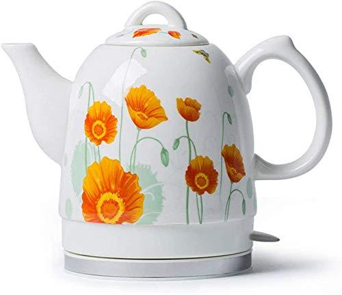 Vite, Céramique bouilloire électrique, sans fil eau Teapot 1.5liter, sans fil automatique de mise hors tension rapide ébullition, rapide Brew thé, soupe café, Bureau, style vintage