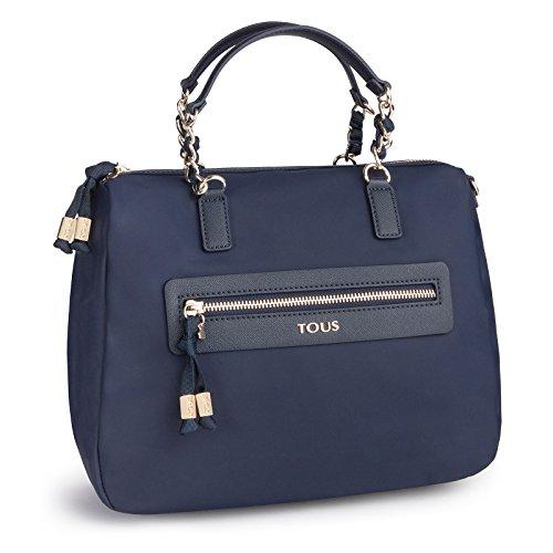 Tous Efim Brunock Chain, Bolso de Mano para Mujer, Azul (Marino 595810119), 28x20x13 cm (W x H x L)