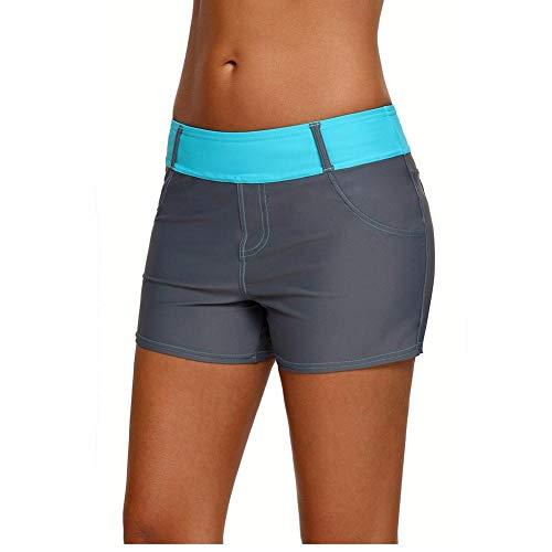 Camisolas Y Pareos para Mujerpantalones Deportivos De Mezclilla De Imitación Surf Buceo Pantalones Cortos De Secado Rápido Cinturón De Menta Bañadores De Baño para Mujer-Un_SG
