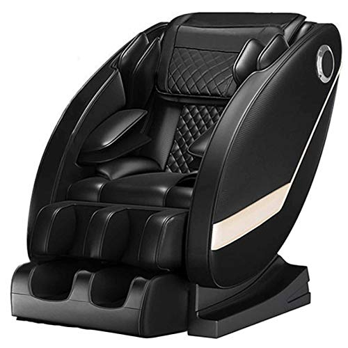Sillón De Masaje Zero Gravity Sillón Masajeador Libre De La Instalación/Envuelta Bolsa de Aire de Todo El Cuerpo/Masaje de Espalda/LED de Funcionamiento/Audio Bluetooth,Negro