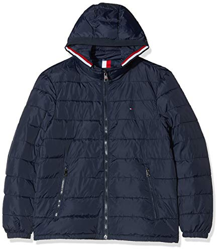 Tommy Hilfiger Herren Quilted Hooded Jacket Bomberjacke, Blau (Blue Dw5), X-Large