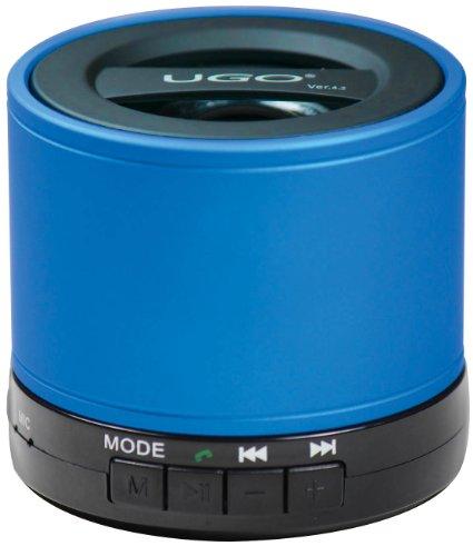 UGO Portable Bluetooth Speaker for Smartphones - Retail Packaging - Blue