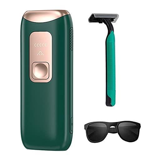 Jualyue Appareil dépilation - Épilateur laser permanent pour le visage et le corps 990000, vert foncé Style1