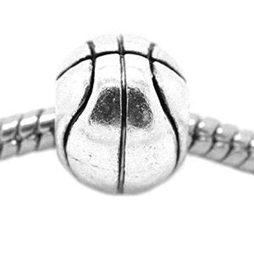 Sexy Sparkles Damen Basketball Charm Spacer Perlen Charme