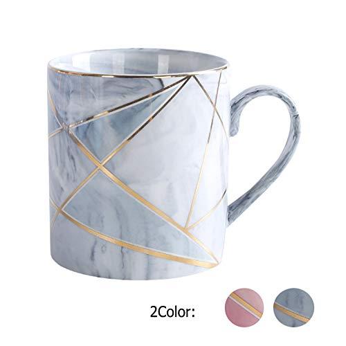 Binoster Süße Kaffeetassen Marmor Keramik Teebecher, Rosa Grau Marmor Kaffeetasse, Muttertag Vatertag Geburtstagsgeschenke für Frauen, Vater Mädchen, Ehefrau, Mama, Oma, Opa (Grau)