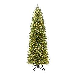 powerful Puleo International 7.5ft pre-lighted artificial Christmas tree, Frasertannnstift, 350UL…