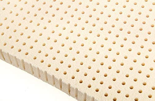 """Original Best Imported Dunlop Latex Mattress Pad Toppers 2 and 3"""" (3"""" Firm 40-42 ILD, King 76x80)"""