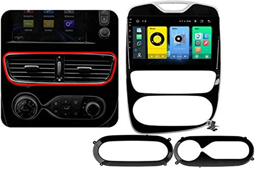 Android 9.1 GPS Navigation Stereo Radio para Renault Clio 4 ZOE 2012-2019, 10,1' Pantalla Coche Media Player Soporte Carpaly/5G FM RDS/Control Volante/Bluetooth Hands-Free