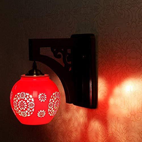 noulerd Mur Moderne de Lampe d'auto-Stallation, Chevet créatif Chese House Lounge Lampe en céramique Headmode