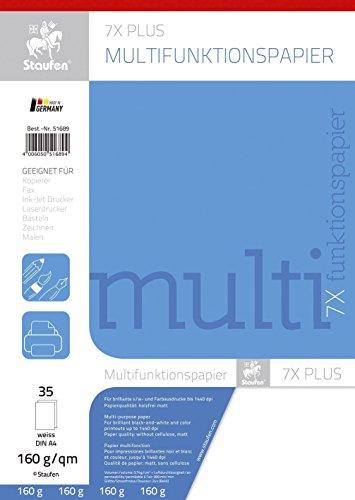Staufen Multifunktionspapier 7X PLUS A4,160 g qm weiß 35 Blatt