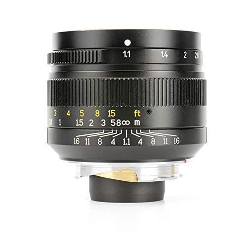 7artisans 50mm F1.1 Full Frame Large Aperture Fixed Lens for Leica M-Mount Cameras Like Leica M2 M3 M4-2 M5 M6 M7 M8 M9 M10 M4P M9p M240 M240P ME M262 M-M CL -Black