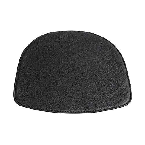 HAY About A Chair AAC Sitzkissen für Armlehnstuhl, schwarz Leder LxBxH 41x41x0,5cm für AAC Armlehnstuhl