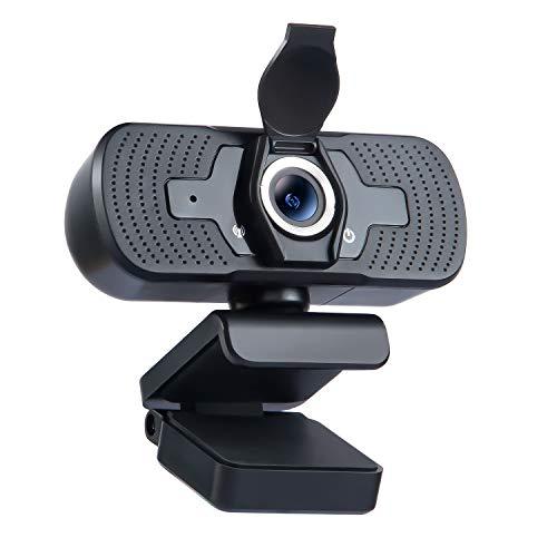 MUSON Webcam 1080P con Microfono Stereo, USB 2.0 Plug & Play per videochat e Registrazione, Studio, conferenze, Webcam Full HD 1080P per Windows, Mac e Android