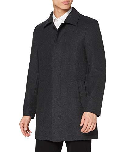 find. Manteau Long en Laine Homme, Grey (Charcoal), XL, Label: XL
