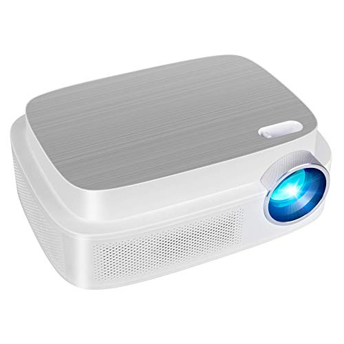 SIQPF WiFi Mini Portable Projector,12000 Lumens 1080p Full Hd Projector 150' Home Theater Compatible with Pc/smartphone/tablet/ps3/ps4/tv Stick/DVD