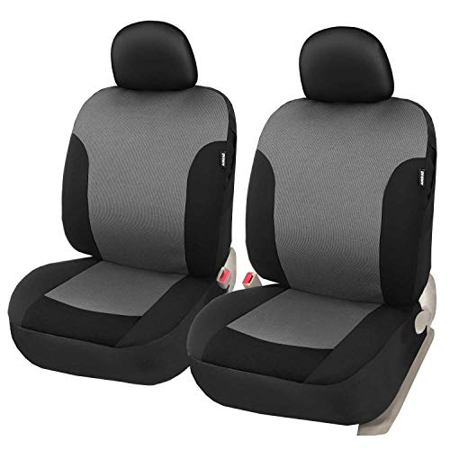 Cloth Fabric Front Car Seat Covers Set of 2 with Headrest Covers Car Interior Seat Protector for Truck SUV - Leader Accessories
