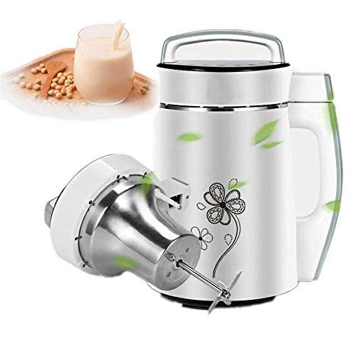 BGSFF Automatischer Suppenhersteller - 6 in 1 heißer oder kalter Suppenhersteller Plus Sojamilch, Reis-Getreide-Reisbrei-Hersteller Mehr - 4 Klingen, Cool Touch, haltbarer Edelstahl mit
