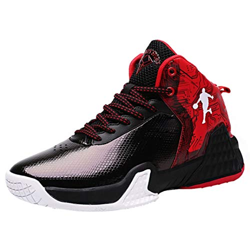 Zapatillas de Baloncesto Botas de Entrenamiento de caña Alta para Hombre Zapatillas de Deporte Antideslizantes Antideslizantes Absorción de Golpes