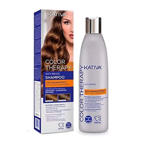 KATIVA - Color Therapy - Champú Matizador No-abrasivo Sin Sal, Sulfato Ni Parabenos, Azul, 250 Mililitros