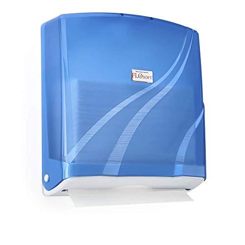 Dispensador de toallas de papel Z plegable de plástico ABS 300 toallas de papel capacidad