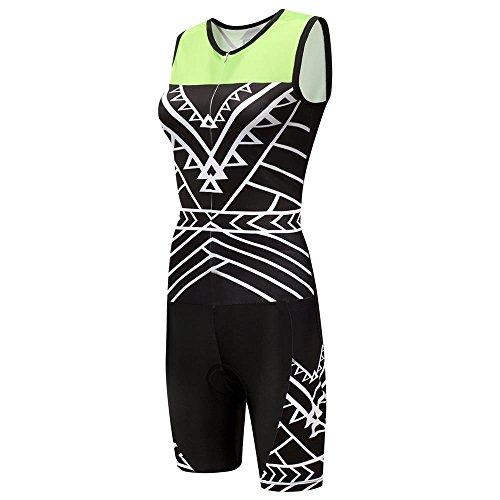logas Maillot Cuissard Triathlon sans Manche Combinaison Trifonction Tenue Femme