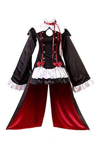 Harrypetter Disfraz de Krul Tepes para Mujer Halloween Carnaval Vestido de Princesa Vampiro Traje de Lolita Negro, M