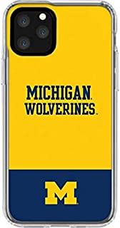 Skinit Clear Phone Case for iPhone 11 Pro - Officially Licensed College Michigan Wolverines Split Design