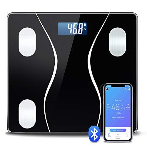 体重 体組成計 TOPOOMY 体重計 体脂肪計 25項目測定 ダイエット 体脂肪率 皮下脂肪 内臓脂肪レベル 筋肉量 推定骨量 体水分率 基礎代謝量 BMI 測定可能 Bluetoothスマホ連動 対応 iOS/Androidアプリで健康管理 ヘルスケア同時 (日本語対応APP&取扱説明書)