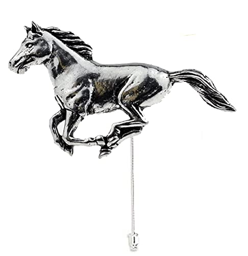 A19 Running Horse Fine English Pewter Motif on a tie stick pin sombrero bufanda collar abrigo