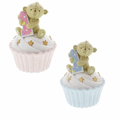 Button Corner 1. Geburtstag Teddy auf Cup Cake Spardose