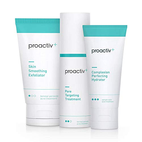 Proactiv+ 3 Step Advanced Skincare Acne Treatment - Benzoyl Peroxide Face Wash, Salicylic Acid Exfoliator For Face And Pore Minimizer - 30 Day Complete Acne Skin Care Kit