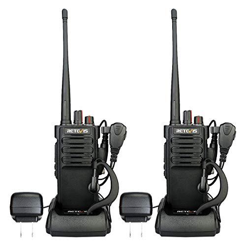 RetevisRT29 Military Grade Walkie Talkies Long Range,Heavy Duty 2 Way Radio with 3200mAh Rechargeable,Emergency WalkieTalkies Adults with Earpiece(2 Pack)