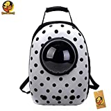Foodie Puppies Portable Multi Air Vents Waterproof Light-Weight Black Polka Dots Print Travel