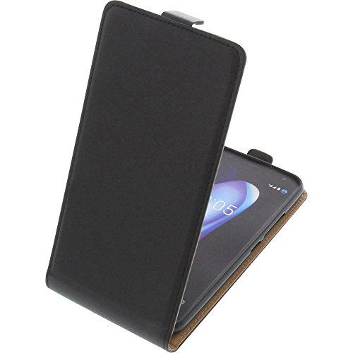 foto-kontor Tasche für Bq Aquaris V Plus/VS Plus Smartphone Flipstyle Schutz Hülle schwarz