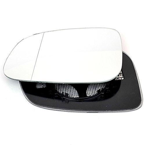 Pasajero lado izquierdo climatizada ala Puerta Plata Cristal de espejo con base placa # w-shy/l-vov5010[Clip On]