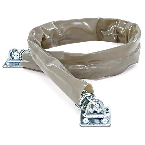 Door Chain Crash Heavy Duty Storm Wind Stop Perfect for Keeping Your Door from Swinging Open and Damaging Itself - by Ram Pro