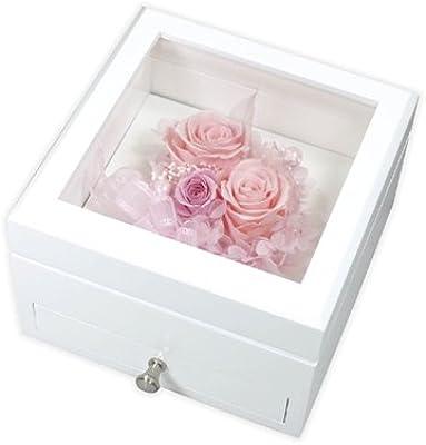 プリザーブドフラワー コレクションボックス M(ホワイト) 1265-01
