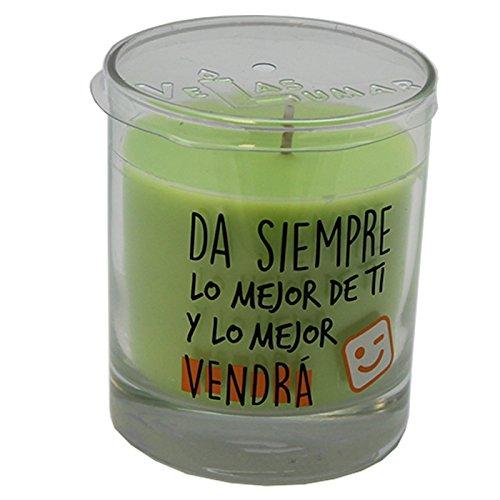 Lumar Vela perfumada con Olor a Manzana y Mensaje