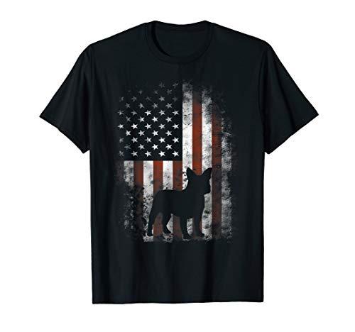 French Bulldog T-Shirt American Flag Patriotic 4th Of July T-Shirt