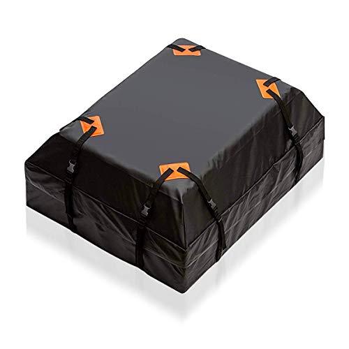 Zento Deals wasserdichte Auto Dachtasche Auto Frachttasche 15 Kubikfuß, großer Stauraum, Gepäckträger mit Hochlebstungsgurten, passend für alle Gepäckträger, für Seitengitter, Querstangen oder Körbe