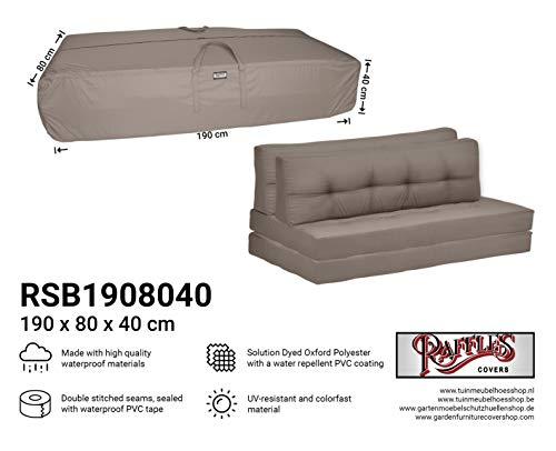 Raffles Covers NW-RSB1908040 Tuinkussens opbergtas 190 x 80 H: 40 cm Opbergtas voor tuinkussen, beschermhoes voor buitenkussens