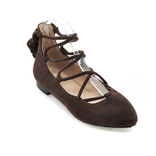 Bailarinas para Mujer Zapatos Negros Elegantes con Punta Puntiaguda con Cordones Zapatos De Baile Cómodos Casuales para Damas