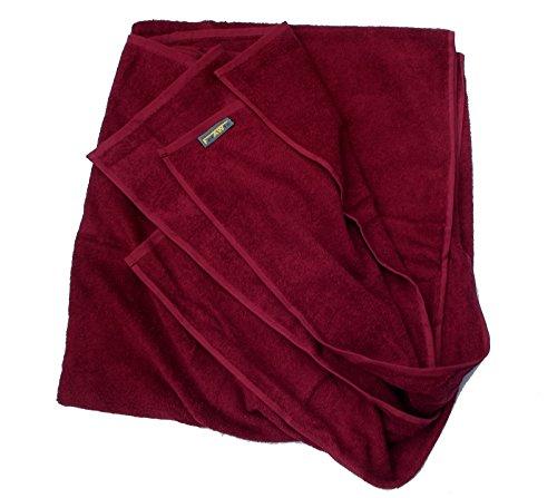 FelAWie XXL Strandtuch – Handtuch in Übergröße in der Farbe weinrot (100 x 220, weinrot)