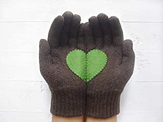 Valentine's Day Gift, Heart Gloves, Women Gloves, Gloves With Heart, Wife Gift Idea